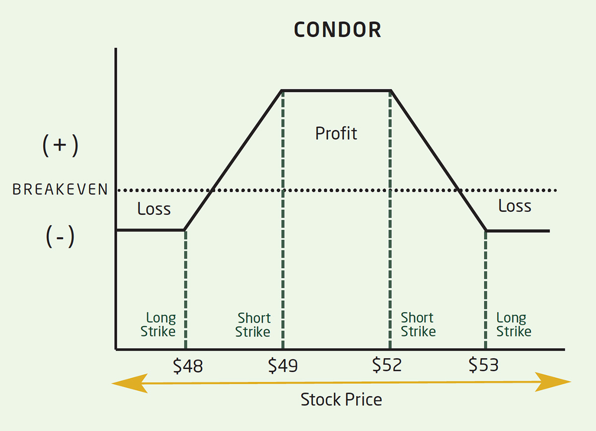 p/l curve iron condor option spread