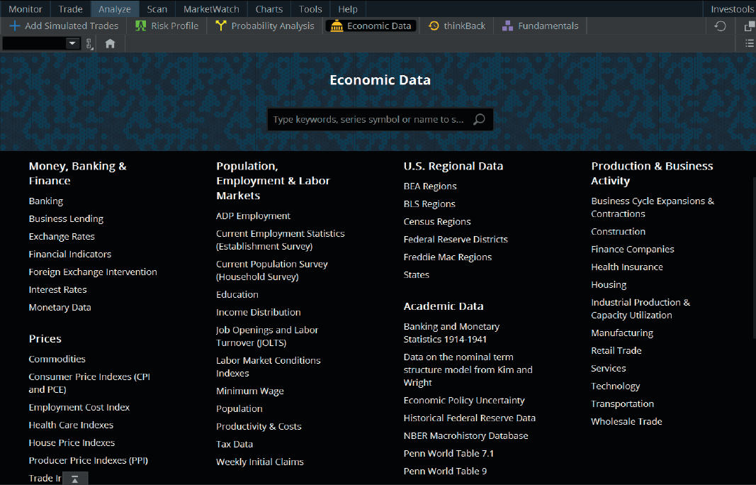 economic data plan