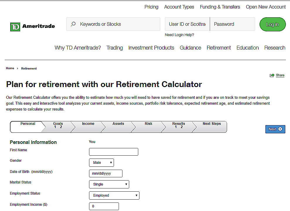 Retirement- Income-Calculator