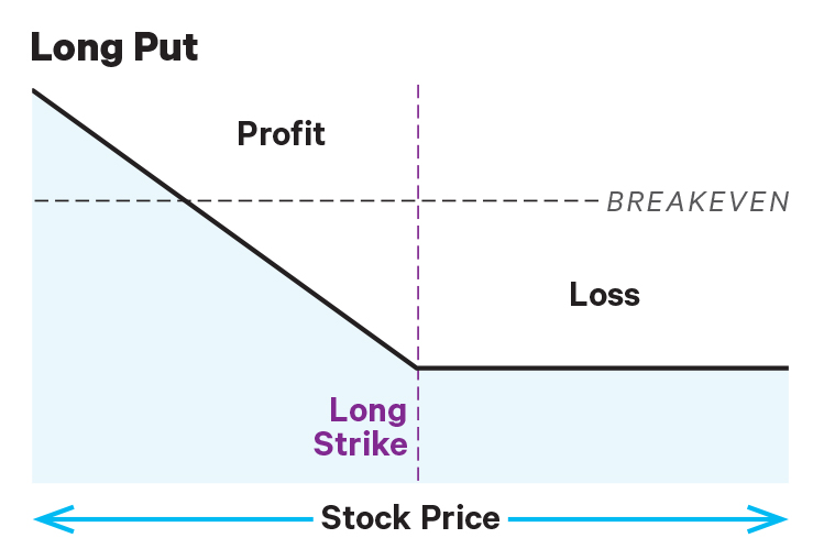 risk profile of long put or protective put