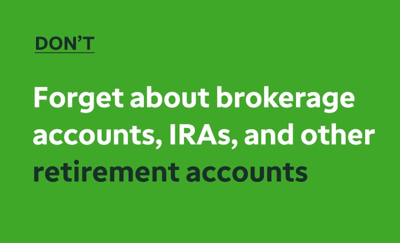 A will should be drafted with thorough, complete disclosure of financial products, and beneficiary designations. Check your TD Ameritrade account to ensure information is current.