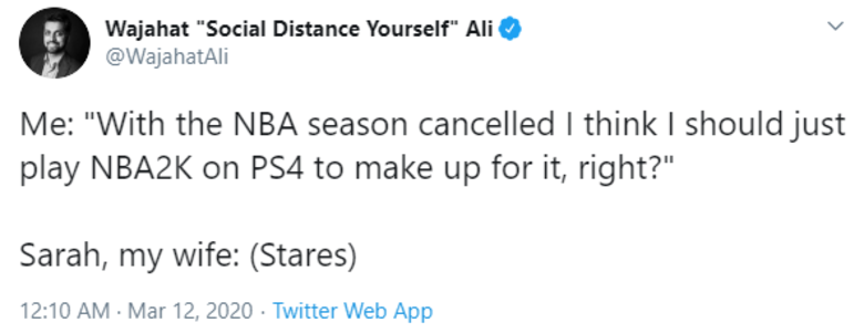 NBA2K Tweet