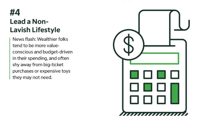 Wealthy habits: Non-lavish lifestyle
