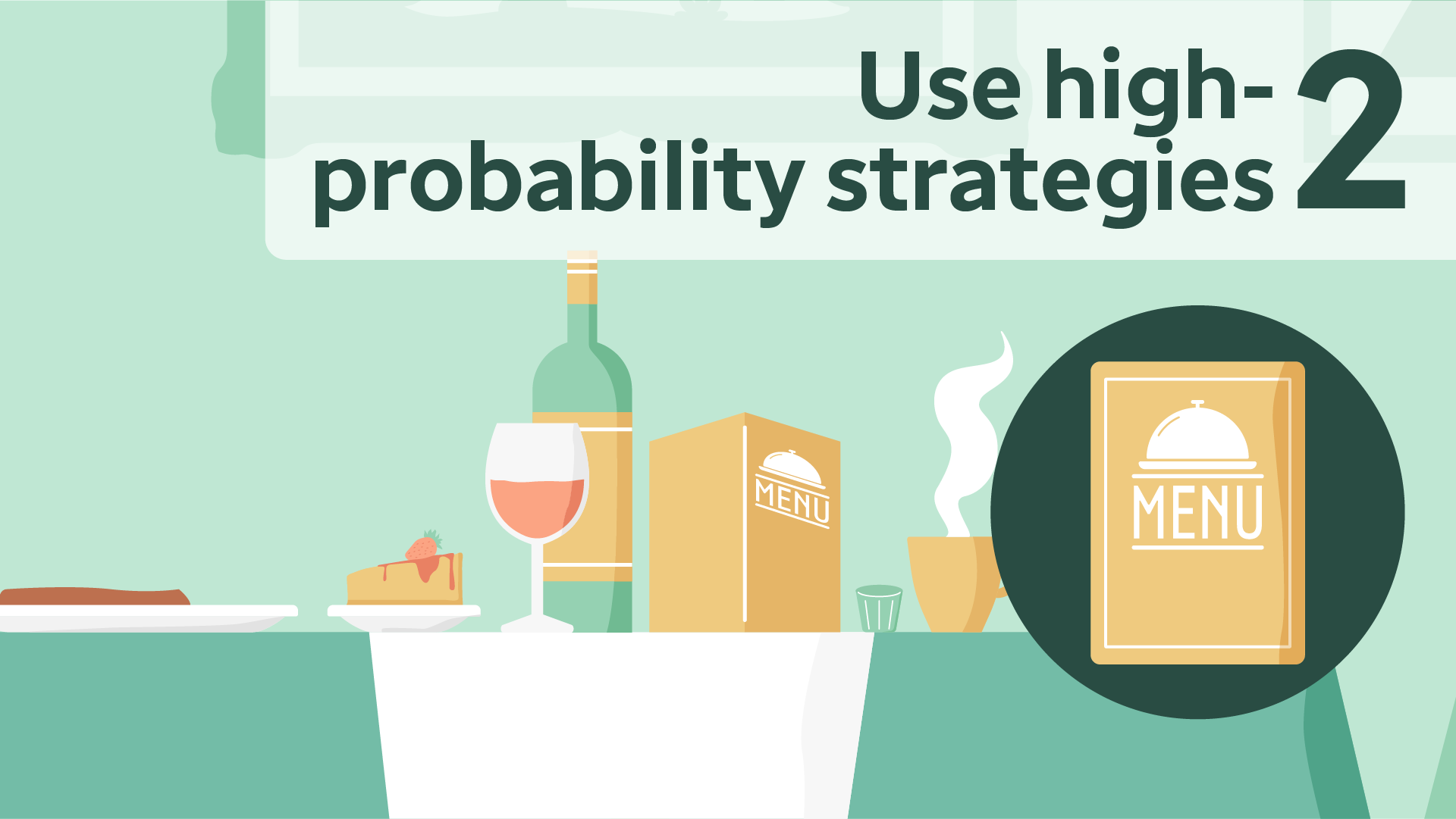 Use high-probability strategies