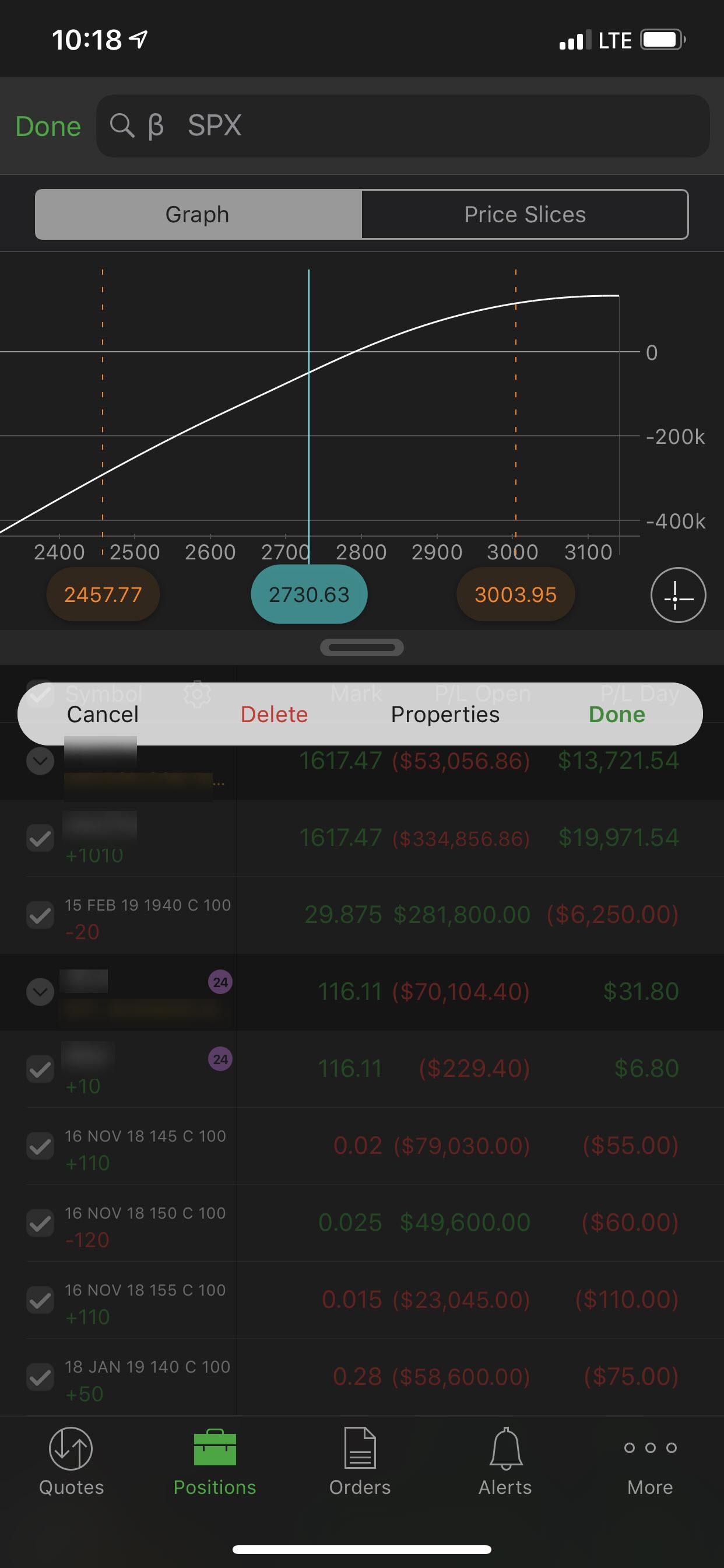 Portfolio analysis on mobile app