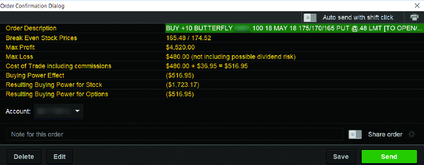 Order confirmation window thinkorswim