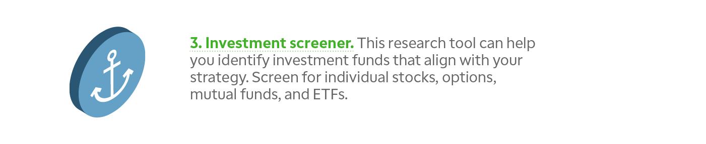 Retirement investment screener