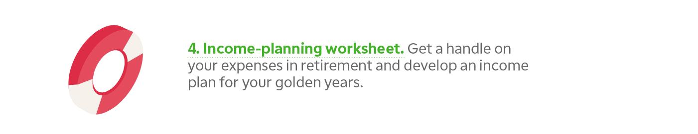 Retirement income-planning worksheet