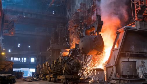 https://tickertapecdn.tdameritrade.com/assets/images/pages/md/Steel being melted in a large plant