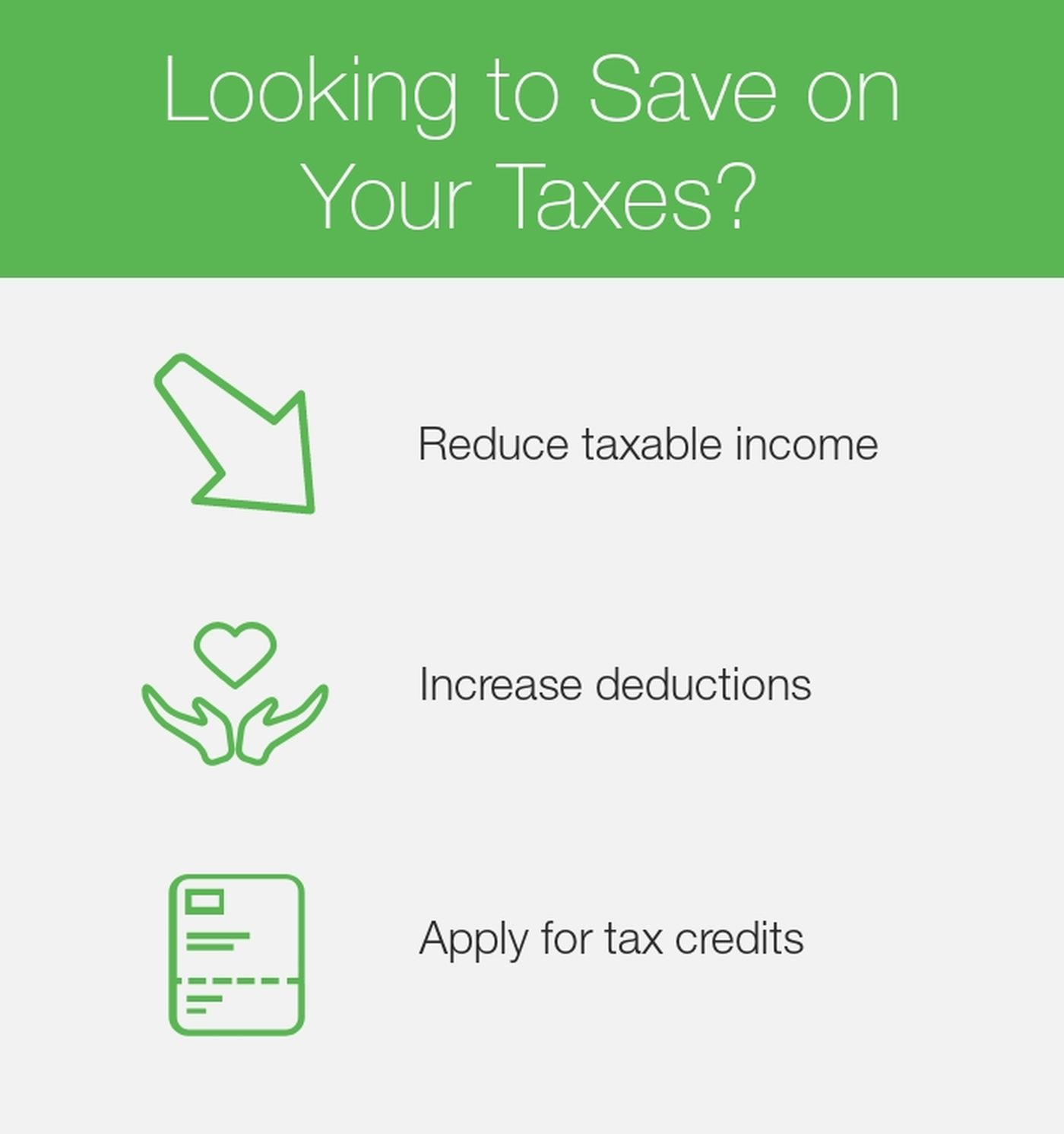 Tax saving strategies