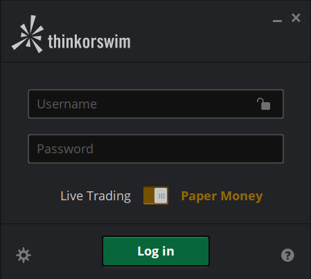 Log in to paperMoney for virtual trading