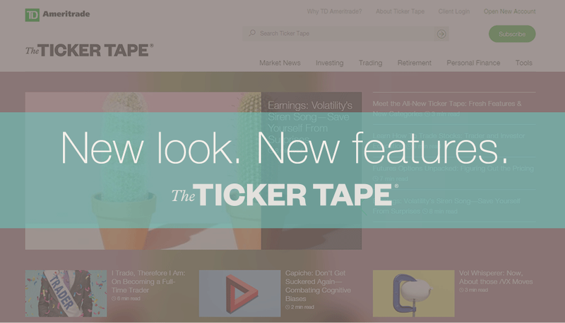New look new features - The Ticker Tape