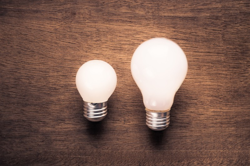 Small and large lightbulb: Small-cap stocks for portfolio diversification